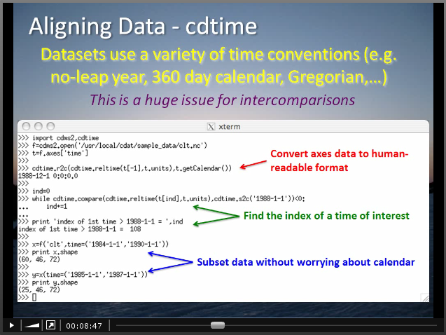 Using cdtime to align data in time